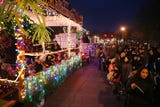 The annual Holiday Electric Lights Parade in Yorktown Dec. 1, 2018.
