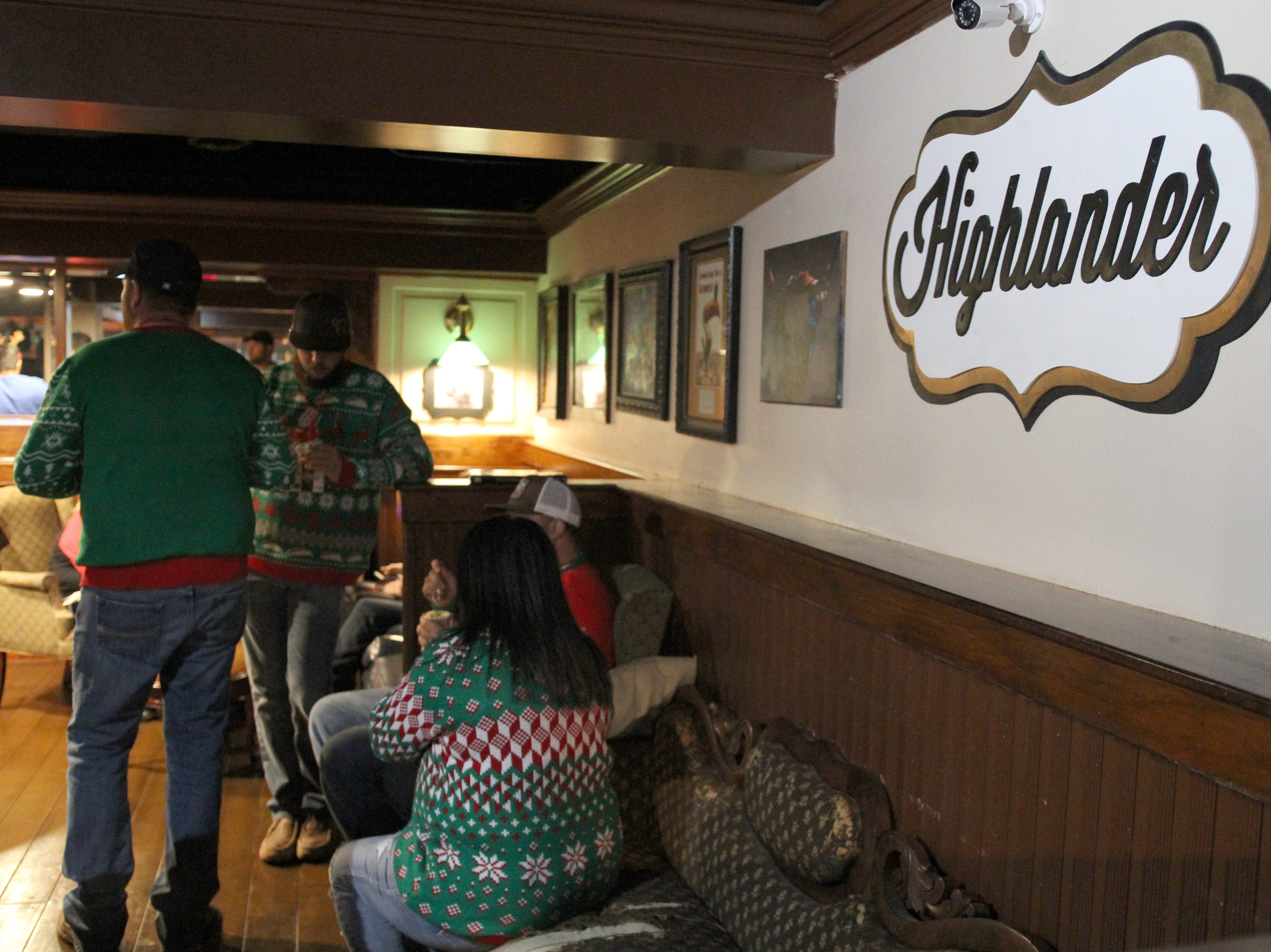 Highlander Public House was one of the stops on Rudolph's First Ugly Sweater Crawl Saturday, Dec. 1, 2018, in Downtown Wichita Falls.