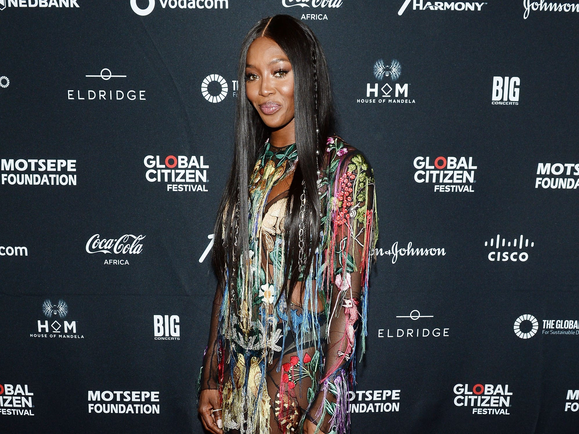 JOHANNESBURG, SOUTH AFRICA - DECEMBER 02:  Naomi Campbell attends the Global Citizen Festival: Mandela 100 at FNB Stadium on December 2, 2018 in Johannesburg, South Africa.  (Photo by Noam Galai/Getty Images for Global Citizen Festival: Mandela 100) ORG XMIT: 775264434 ORIG FILE ID: 1067683730
