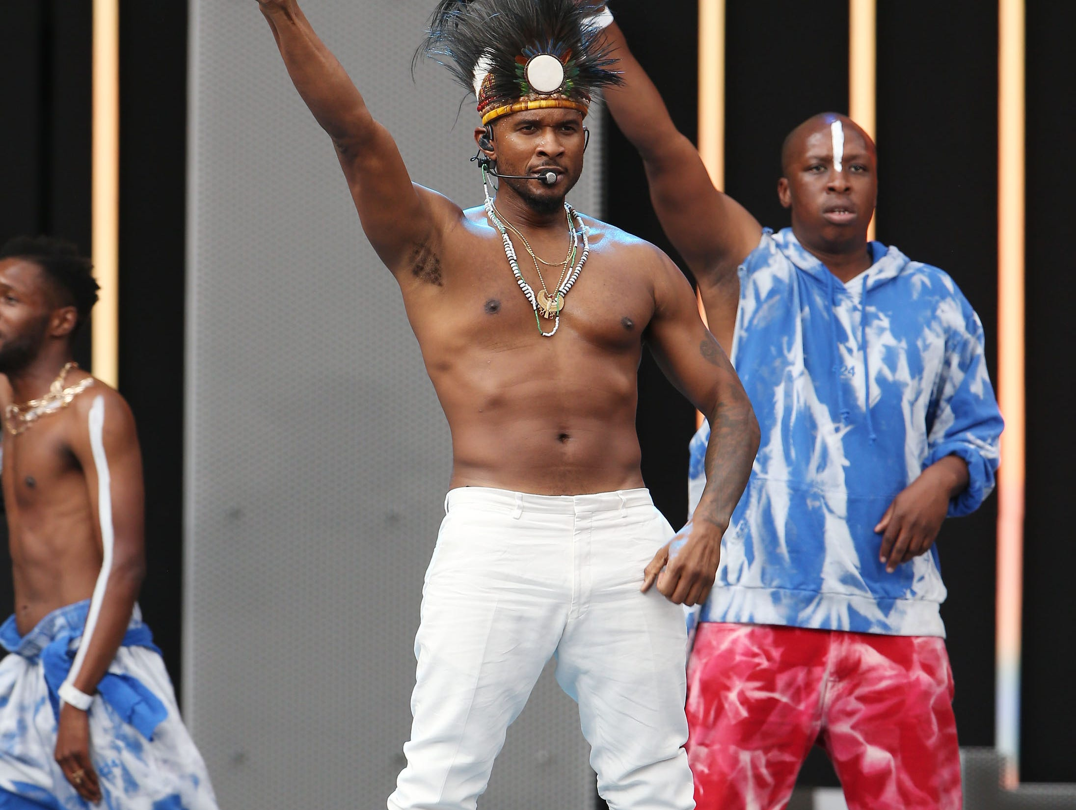 JOHANNESBURG, SOUTH AFRICA - DECEMBER 02:  Usher performs during the Global Citizen Festival: Mandela 100 at FNB Stadium on December 2, 2018 in Johannesburg, South Africa.  (Photo by Jemal Countess/Getty Images for Global Citizen Festival: Mandela 100) ORG XMIT: 775264426 ORIG FILE ID: 1067588374