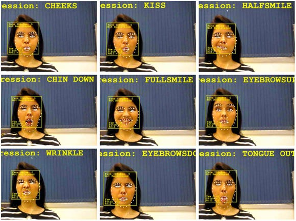 A patient can use various facial gestures to control the Wheelie 7 installed on a wheelchair.