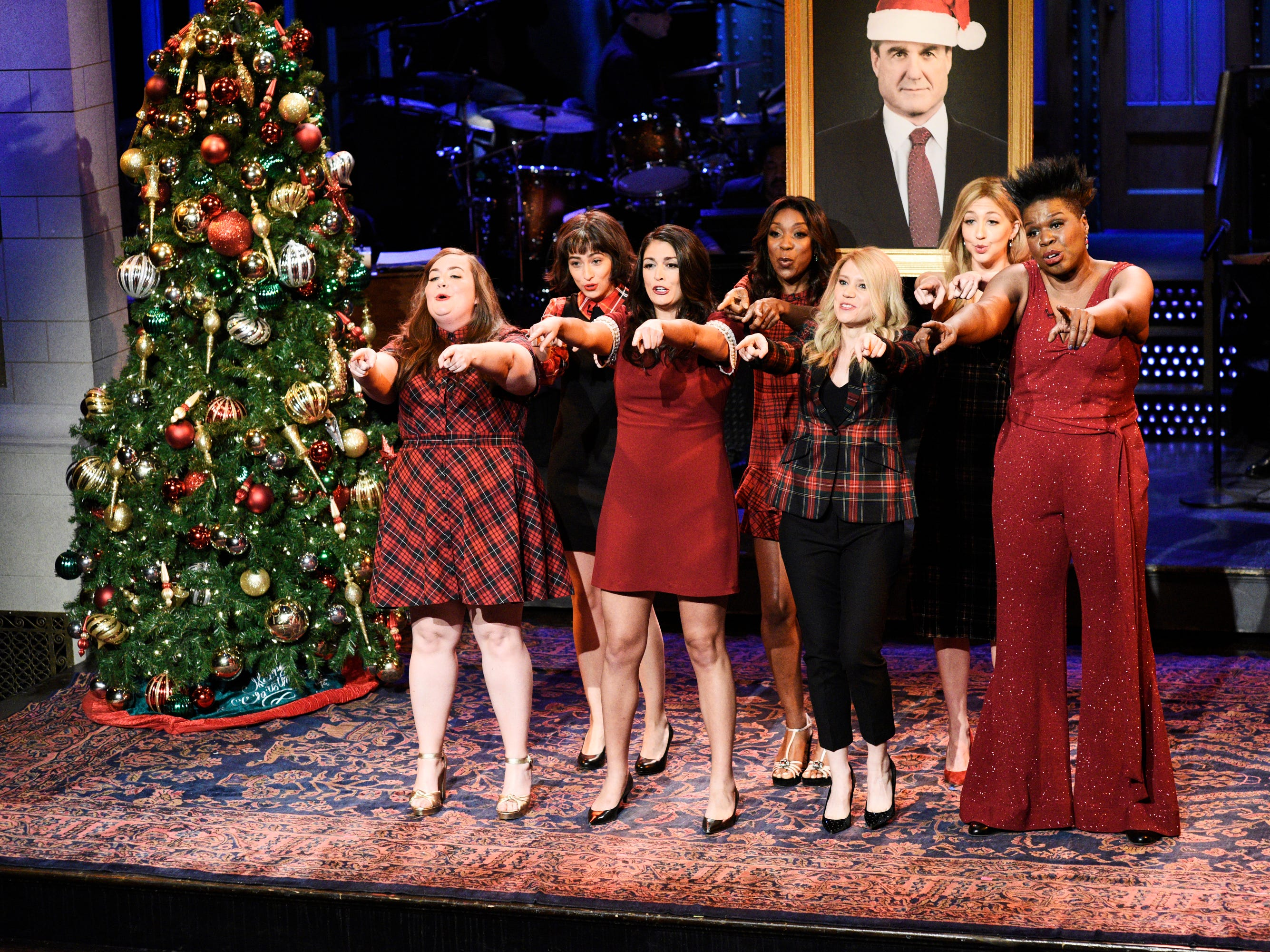 "In the first of three December shows, the ladies of ""Saturday Night Live"" performed a special (counsel) update to the Mariah Carey holiday classic, titled ""All I Want for Christmas Is the Mueller Report.""  It featured lyrics like ""I just want to sleep at night. Please make sure your case is tight."""