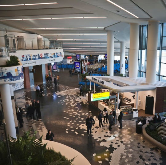 An interior view shows inside the new Terminal B at LaGuardia Airport after its opening by New York Gov. Andrew Cuomo, as part of the airport's ongoing redevelopment, on Nov. 29, 2018.