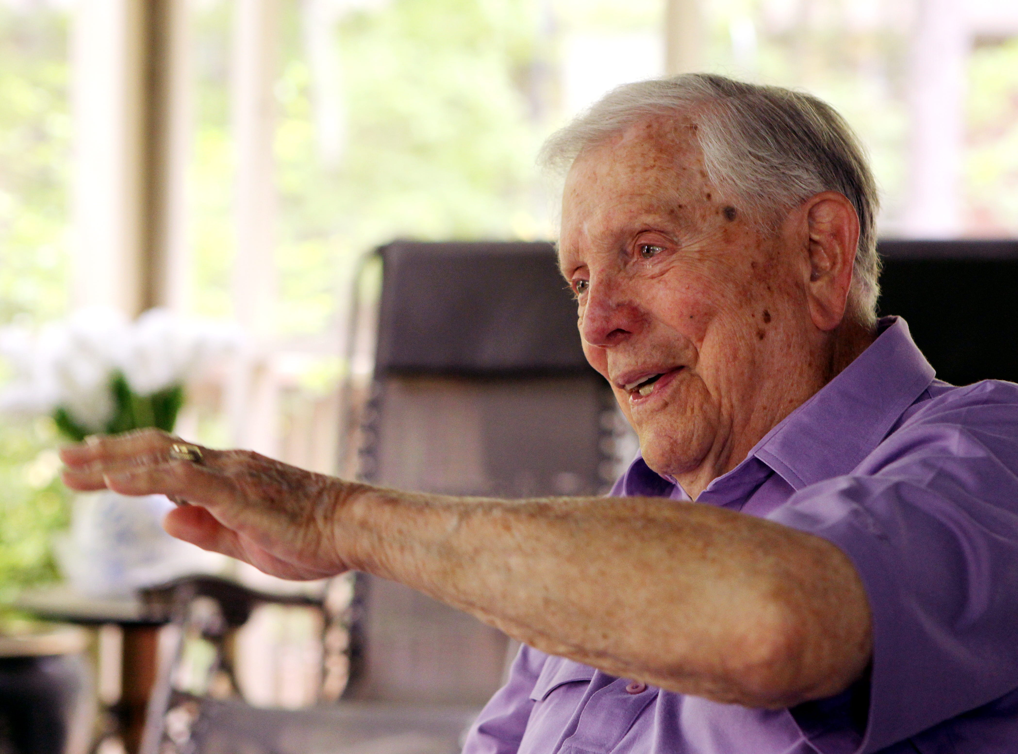Ben Skardon, 94, talks about his experience of surviving the Bataan Death March in the Phillipines during World War II. Skardon is a 1938 graduate of Clemson University and still lives there.