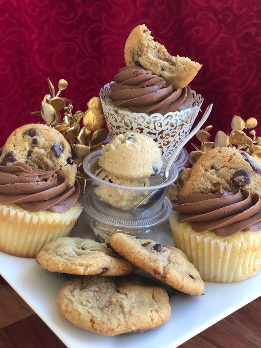 Mandols Chocolate Chip Cookie Dough Cupcakes