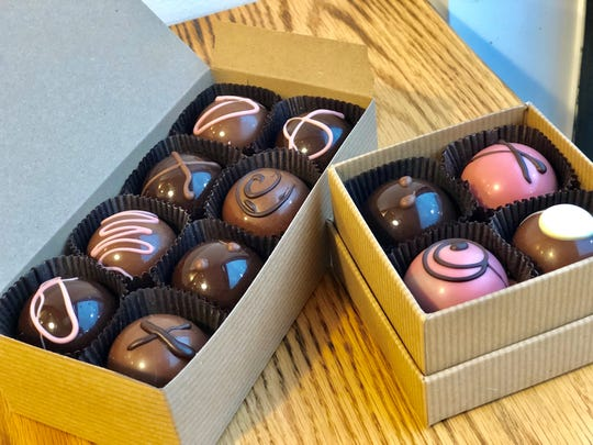 Ice Cream by Mike in Ridgewood offers gift boxes of its handmade chocolates.