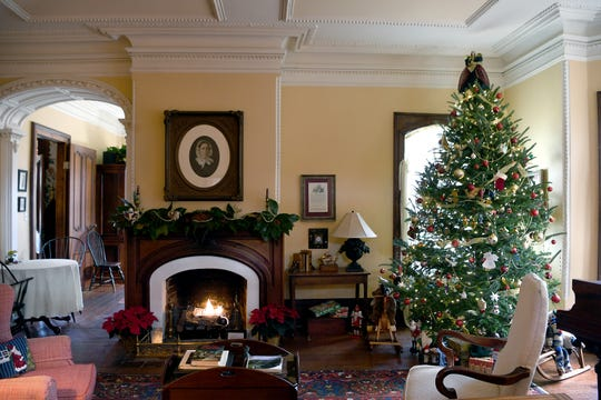 All of the mantels in the Mountain Magnolia Inn in Hot Springs are original to the 150-year-old house.