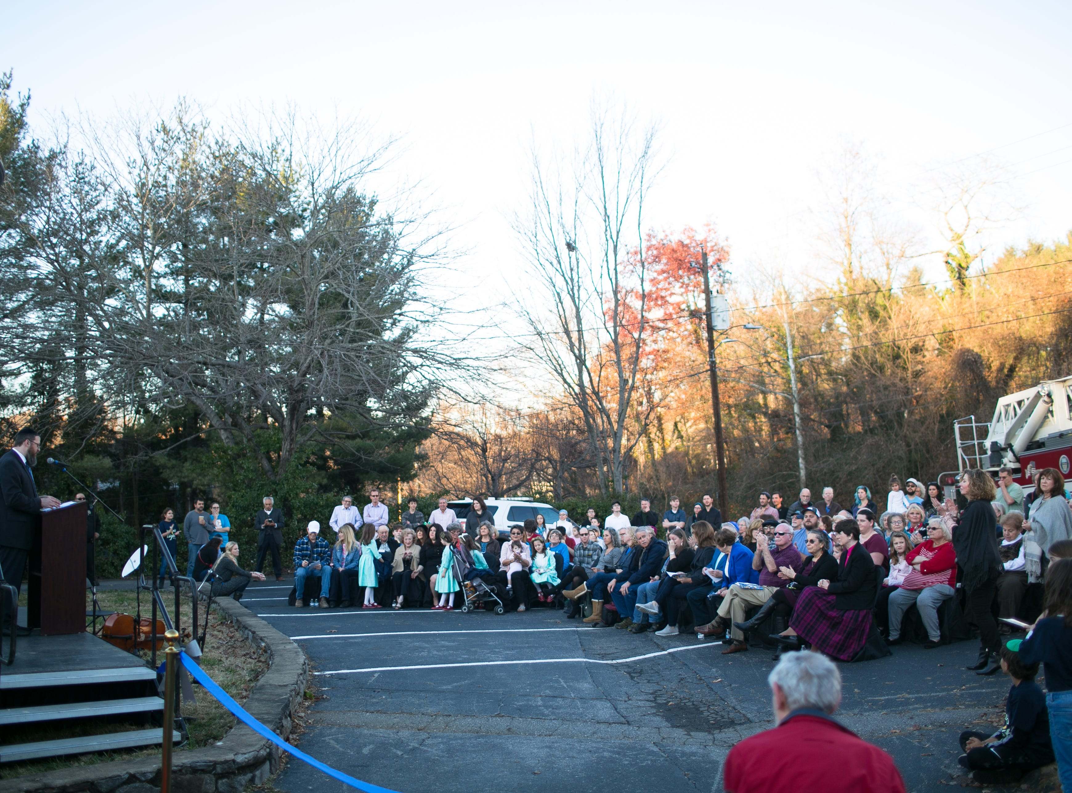 Scenes from Chanukah Live!, Asheville's community Hanukkah celebration, at Chabad House on Dec. 2, 2018, in conjunction with the grand opening of its new facility on McDowell Street.