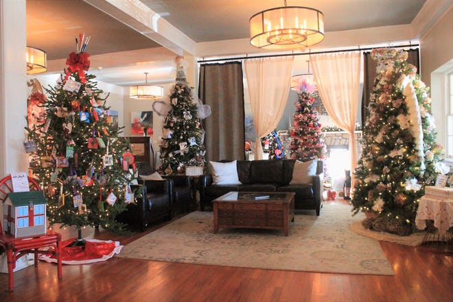 Deck the Trees, which is on display at the Monte Vista Hotel through the end of the year, features trees decorated by local businesses, nonprofit organizations and other community members. The event has raised over $50,000 for the Swannanoa Valley Christian Ministry Fuel Fund in six years.