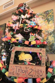 Girl Scout Troop 2498 is among the organizations participating in Deck the Trees at the Monte Vista Hotel this year.