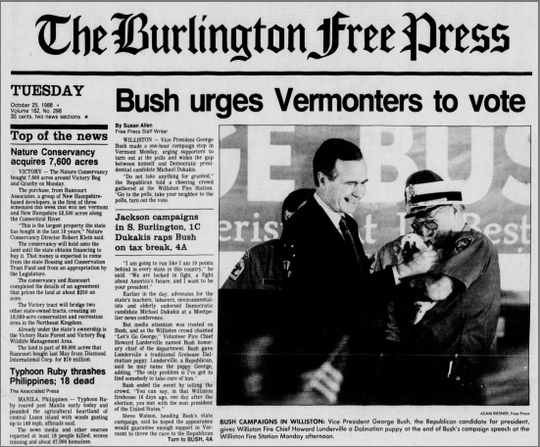 The Free Press homepage on Oct. 25, 1988.