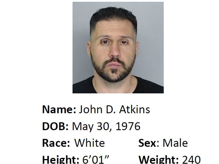 John D. Atkins is wanted for suspicion of theft. Anyone with information should call Crime Stoppers at 361-888-8477.