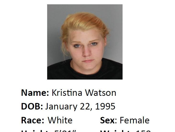 Kristina Watson is wanted for suspicion of motion to revoke probation: accident involving injury. Anyone with information should call Crime Stoppers at 361-888-8477.
