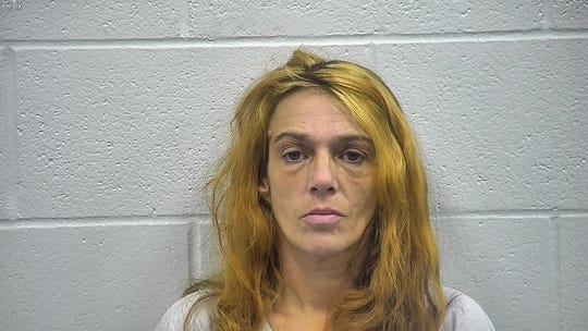 Rachel Heger. Jail booking photo from Nov. 27, 2018, on arrest for trafficking in controlled substance - methamphetamine.