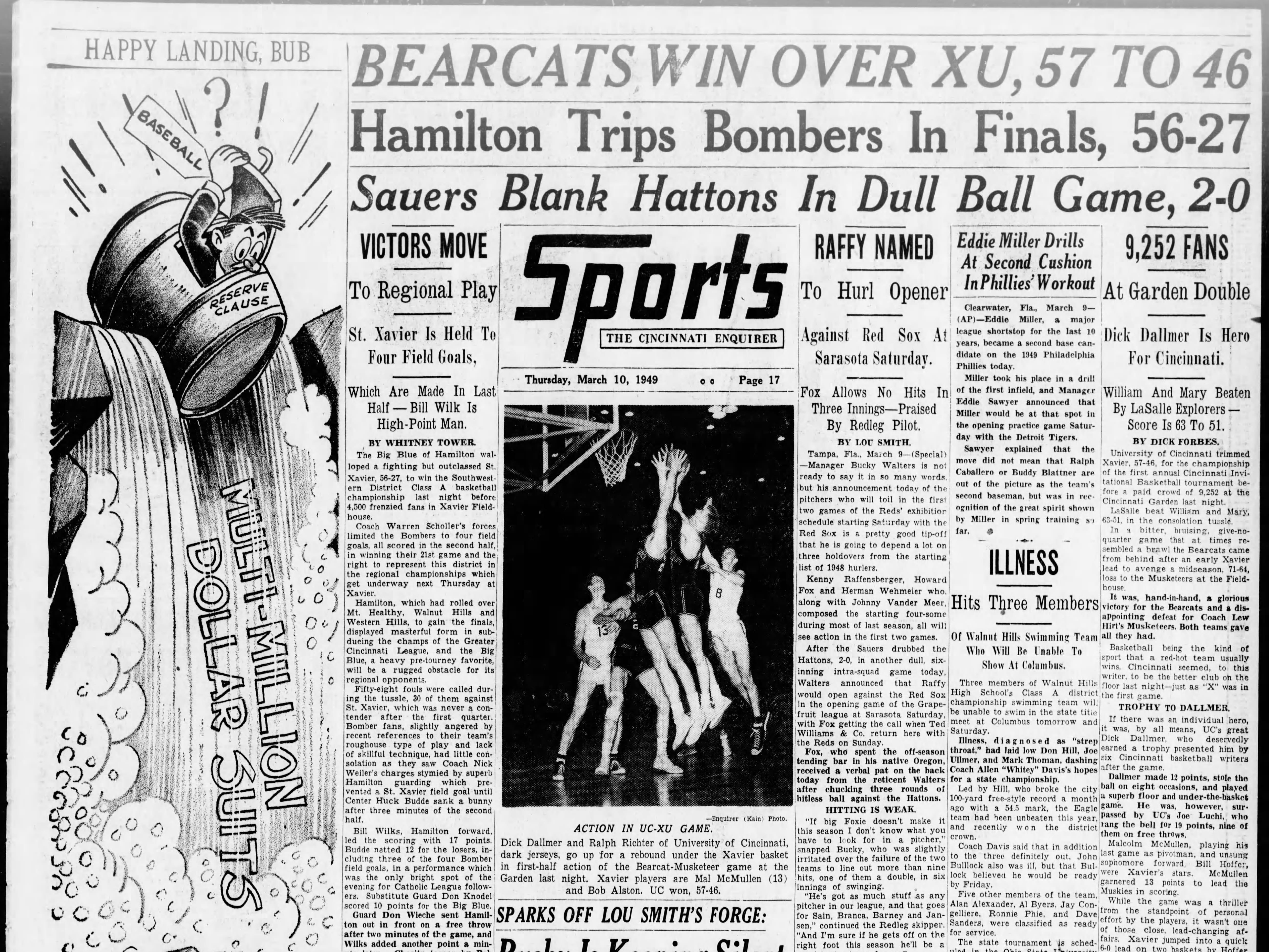 UC was able to get revenge on Xavier when the two teams met for a second time in 1949.