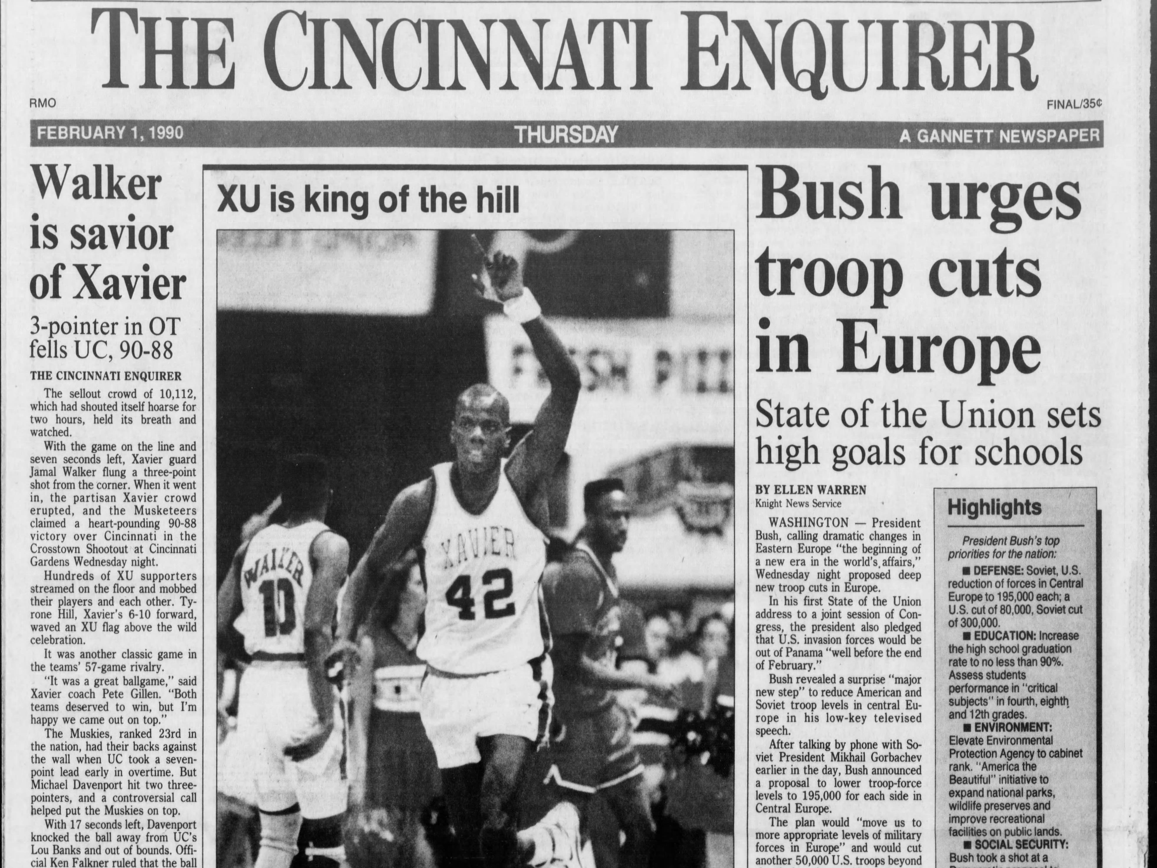 Xavier spoiled Bob Huggins' first Crosstown Shootout. The Musketeers defeated UC 90-88 in overtime in 1990.