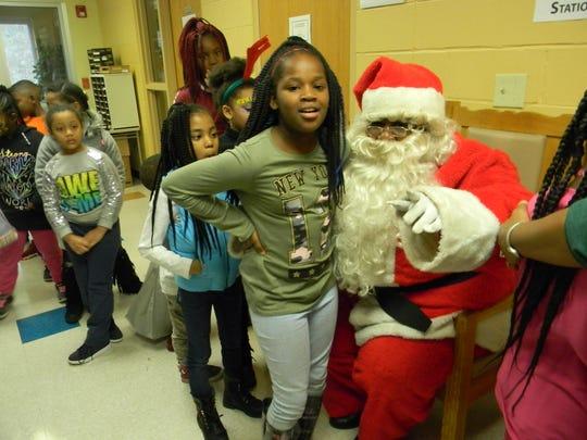 Santa visits Halle-bration on Saturday.