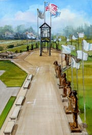 This is a rendering of the Colerain Township Veterans Memorial veteran Chris Green would like to build in his community.