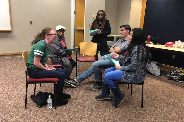 Beeson's students took the assignment seriously, researching their roles and trying to tap into how parents would respond to something like a school shooting