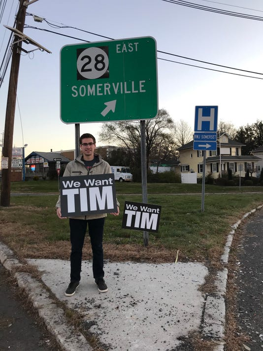 Tim Sign At Somerville Circle