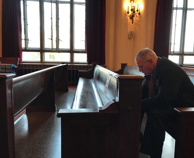 Lenny Dykstra in the Union County Courthouse on Monday.
