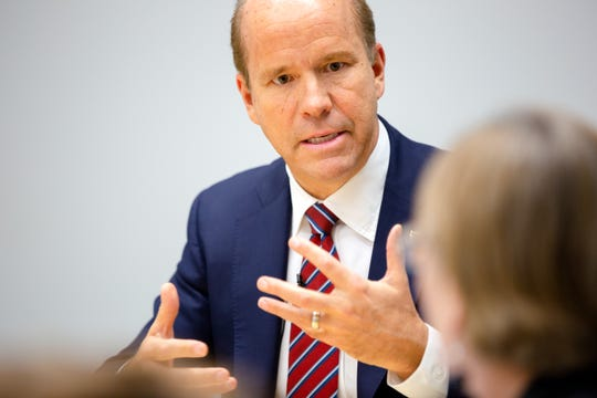 2020 Democratic president candidate congressman John Delaney meets with the Register's editorial board Monday, Dec. 3, 2018.