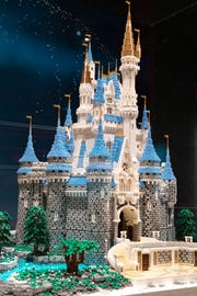 "Cinderella's Castle is part of the ""Brick by Brick"" Lego's exhibit at the Science Center of Iowa."