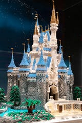 """Cinderella's Castle is part of the """"Brick by Brick"""" Lego's exhibit at the Science Center of Iowa."""