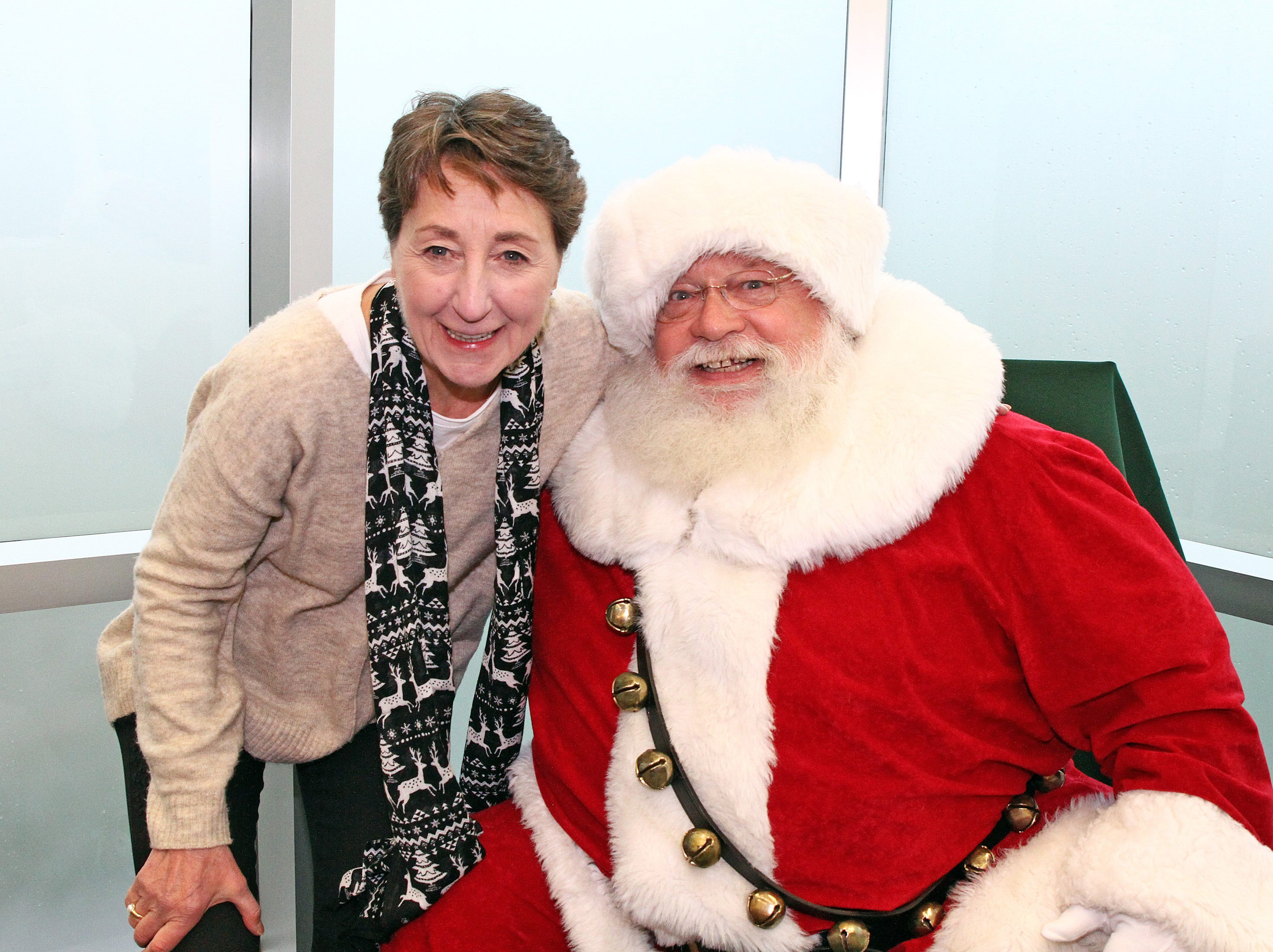 Johnston Mayor Paula Dierenfeld officially welcomes Santa to the Holidays in Johnston on Saturday, Dec. 1, 2018 at the Johnston Public Library featuring a gingerbread house contest, cookie decorating, holiday music performed by the Johnston Middle School Ninth Grade Chamber Choir, story time and Santa.