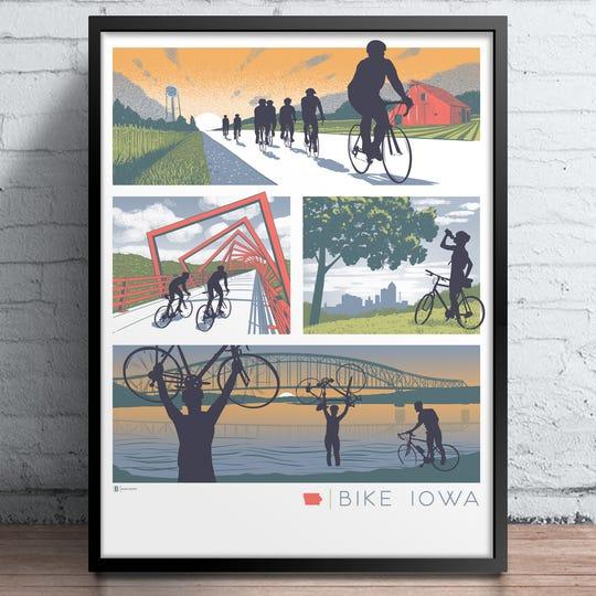 Bike Iowa print