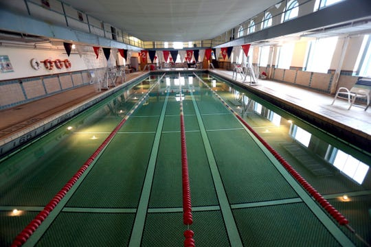 The indoor pool at the Detroit Yacht Club on Belle Isle in Detroit. Photographed on Thursday, November 29, 2018.