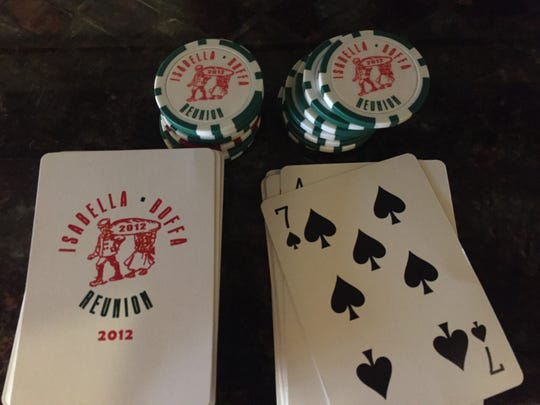 Even poker chips and playing cards with an old family business logo can be personalized as gifts.