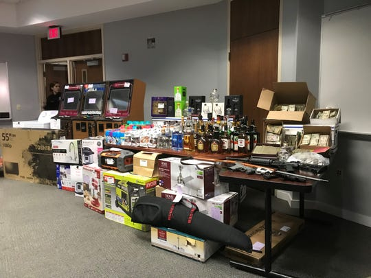 Some of the stolen goods police say were sold out of Cas Bar.