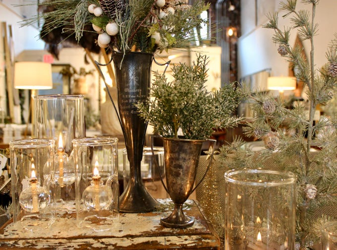 Glass Wolfard Lamps are a lovely way to add some ambiance to any holiday table. They're available at Detroit's Urbanum for $74.95.
