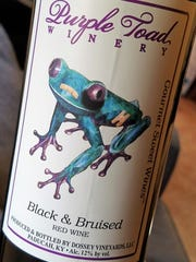 The Frog on Purple Toad's label isn't a purple toad, but it is purple toed.