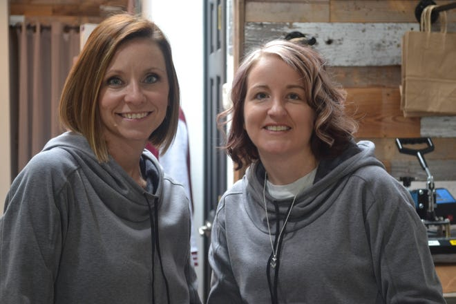 Amanda Szych, left, and Gail McWatters opened an online Christian boutique in September, 2017, but God opened doors that allowed them to move the business into a downtown Genoa building. The women expanded the business to include the handmade work of local artisans.