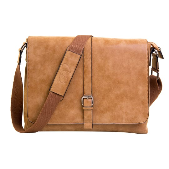 The PortoVino messenger bag has a 1.5-liter bladder that can be filled with wine with a discreet spout on the side.