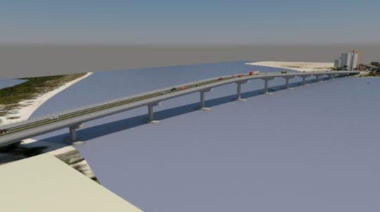 Lee County Commissioners are being asked to endorse a new bridge over Big Carlos Pass extending to a height of 60 feet from Lover's Key to Fort Myers Beach. Some residents of  and Bonita Springs are strongly opposed.