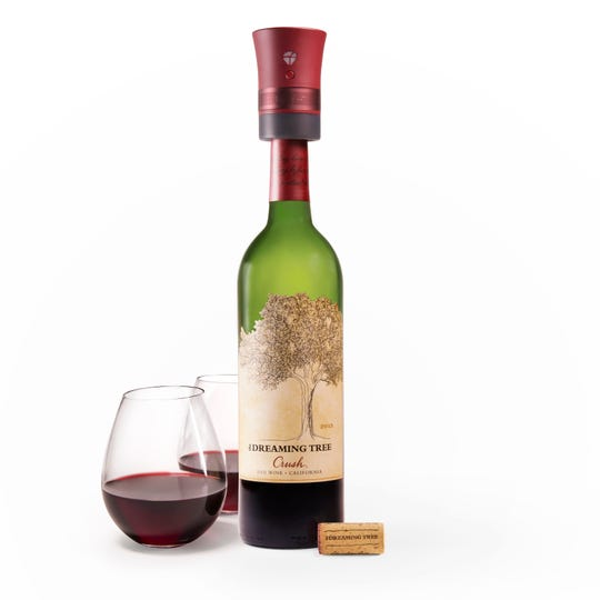 For the holidays, Dreaming Tree's award-winning Crush Red Blend is offered with a wine cork that doubles as a Bluetooth speaker.