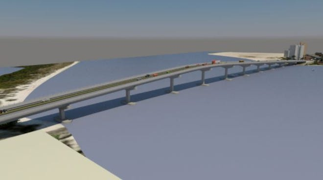 Lee County engineering staffers are recommending a single span bridge 60 feet in the air to replace the existing bridge from Lovers' Key to Fort Myers Beach.
