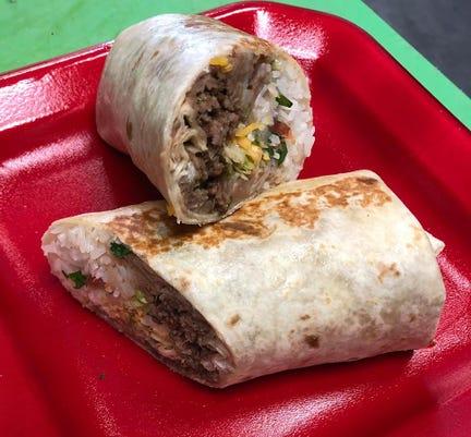 Longoria's Bistro burrito