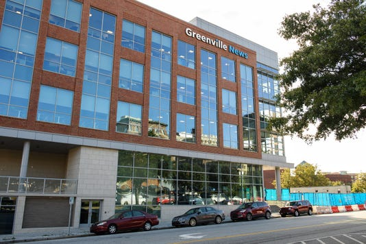 Greenville News Building Daytime