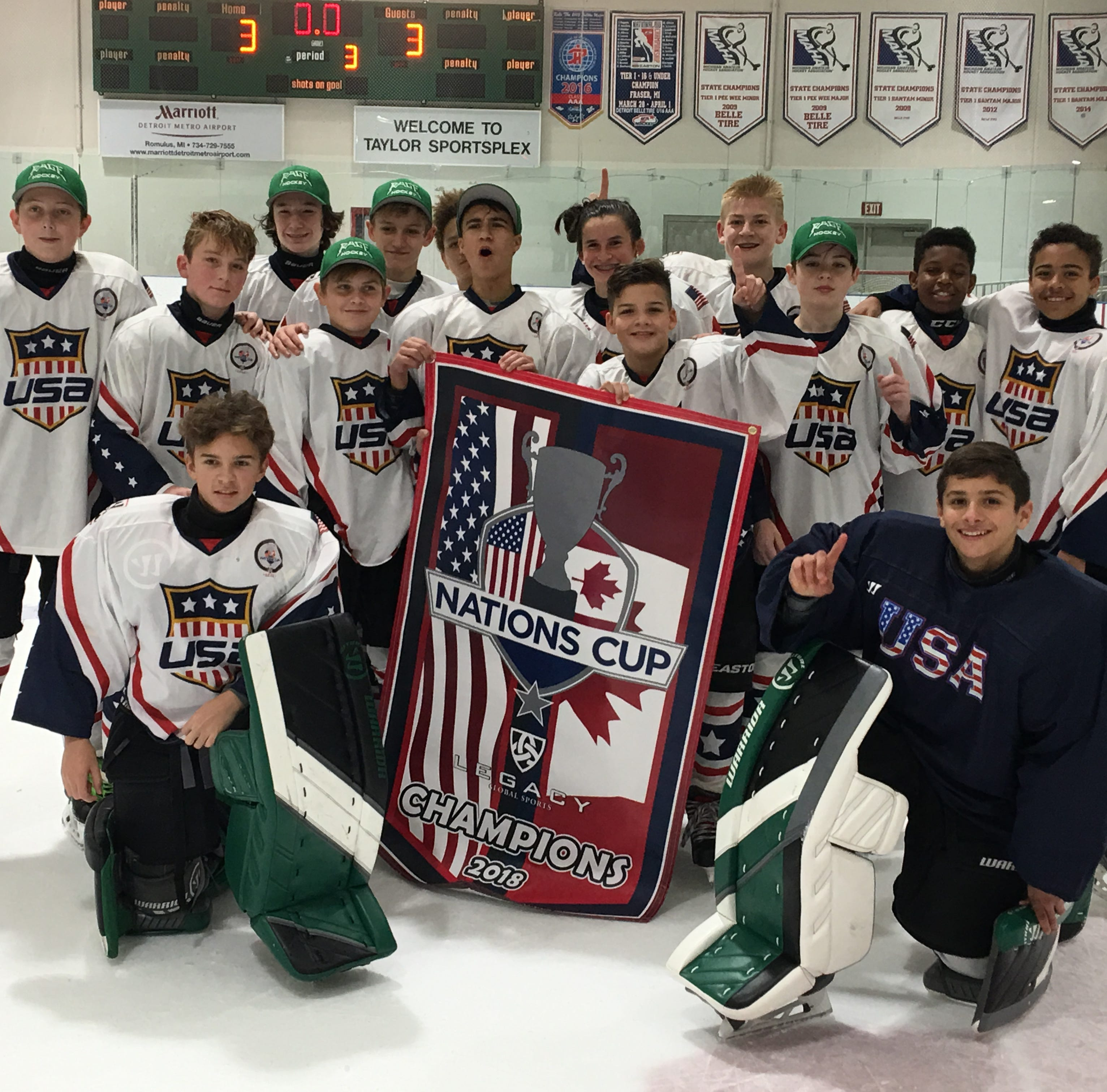 'It's Miracle on Ice all over:' Upstate kids top Canadians in international hockey event