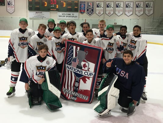 Upstate kids top Canadians in hockey tournament in Detroit