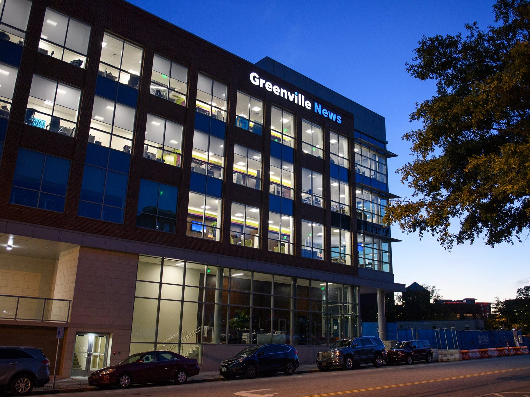 The Greenville News building on E Broad Street in downtown Greenville, Thursday, Oct 18, 2018.
