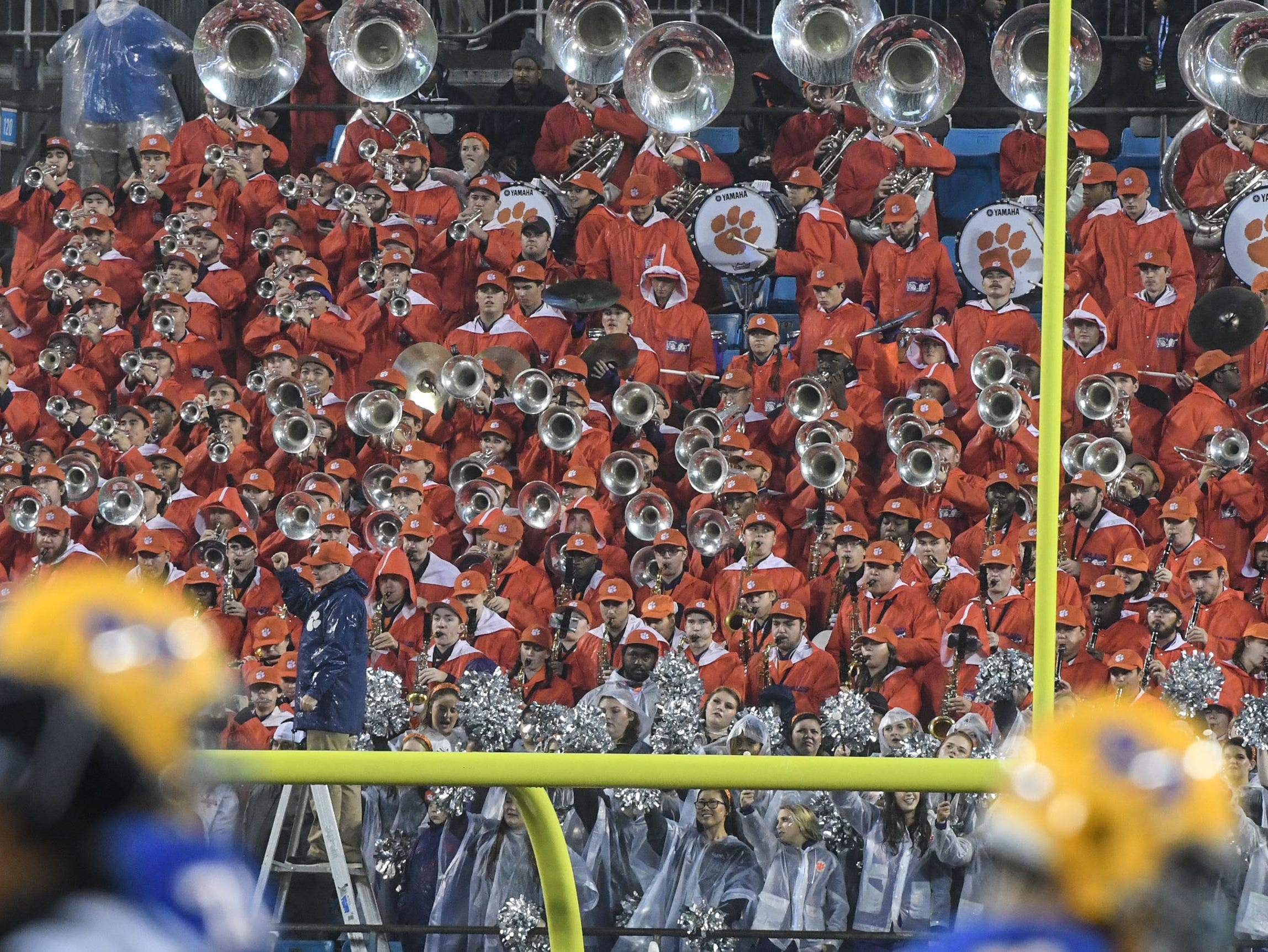 Clemson band plays during the fourth quarter in Memorial Stadium on Saturday, November 3, 2018.