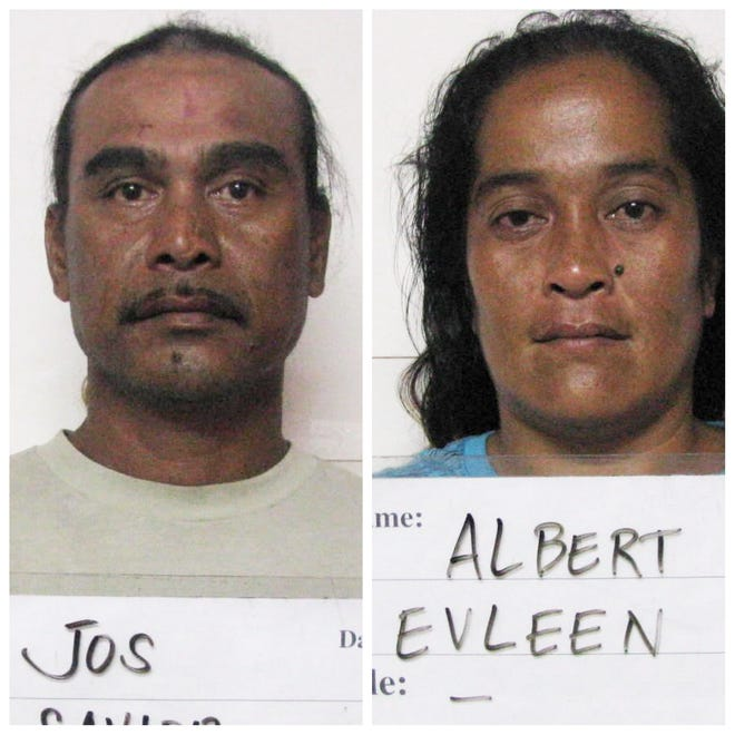 Savior Jos and Evleen Albert are shown in this combined photo.