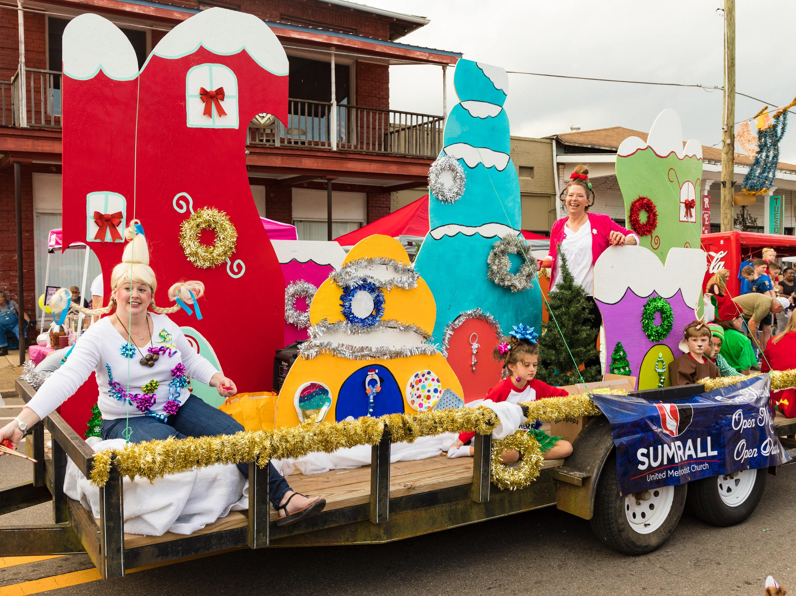 Sumrall United Methodist Church participates in the Christmas Parade on Saturday, December 1, 2018.