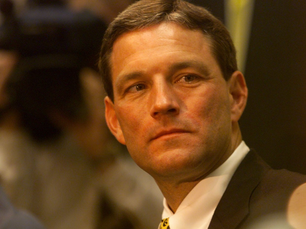 From 1998: Kirk Ferentz is the Hawkeyes' new football coach. He was introduced to fans and the media in a news conference on Dec. 3, 1998.