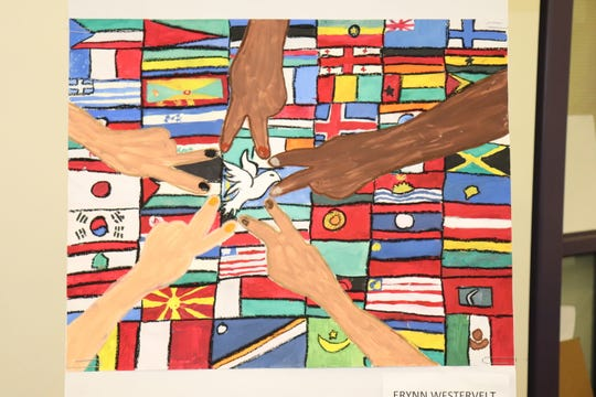 Erynn Westervelt won first prize in the Spencer-Candor Lions Club Peace Poster contest.